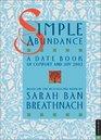 Simple Abundance 2002 Engagement Calendar