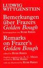 Bemerkungen Uber Frazers Golden Bough/Remarks on Frazer's Golden Bough