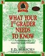 What Your First-Grader Needs to Know
