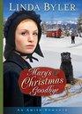 Mary's Christmas Goodbye An Amish Romance