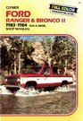 Ford Ranger and Bronco II 1983-1988 Gas and Diesel Shop Manual