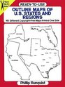 Ready-to-Use Outline Maps of the U.S. States and Regions : 159 Different Copyright-Free Maps Printed One Side (Dover Clip Art)