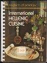 International Hellenic cuisine