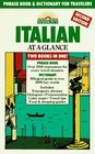 Italian at a Glance Phrase Book  Dictionary for Travelers