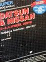 Datsun  Nissan 2-  4-wheel drive super shop manual Pickups  Pathfinder 1970-1987 gas  diesel