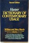 Harper Dictionary of Contemporary Usage