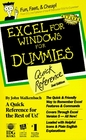 Excel for Windows for Dummies Quick Reference