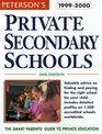 Peterson's Private Secondary Schools 19992000