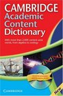 Cambridge Academic Content Dictionary Paperback with CDROM