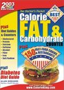Doctor's Pocket Calorie, Fat,  Carbohydrate Counter, 2003