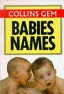 Collins Gem Babies' Names
