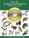 Full-Color Animal Illustrations CD-ROM and Book