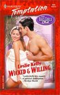 Wicked  and Willing (The Bad Girls Club) (Harlequin Temptation, No 916)