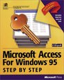 Microsoft Access F/windows 95 Step By Step