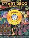 177 Art Deco Designs CD-ROM and Book (CD Rom & Book)