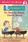 It's Time for School, Charlie Brown (Peanuts) (Ready-to-Read, Level 2)