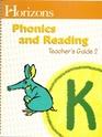 Horizons Phonics and Reading K Teacher's Guide #2