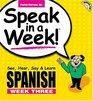 Speak in a Week Spanish See Hear Say  Learn Week Three