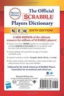 The Official SCRABBLE Players Dictionary Sixth Edition  2018 copyright