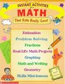 Instant Activities for Math (Grades 3-6)