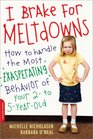 I Brake for Meltdowns How to Handle the Most Exasperating Behavior of Your 2 to 5yearold