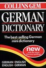 Collins Gem German Dictionary  German-English English-German