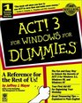 ACT! 3 for Windows for Dummies