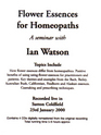 Flower Essences for Homeopaths