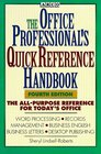 Arco the Office Professional's Quick Reference Handbook