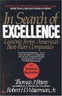 In Search of Excellence : Lessons from Americas Best Run Companies