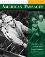 American Passages A History of the United States Complete Volume Brief Edition