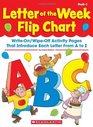 Letter of the Week Flip Chart Write-On/Wipe-Off Activity Pages That Introduce Each Letter From A to Z