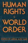 Human Rights and World Order Politics