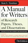 A Manual for Writers of Research Papers Theses and Dissertations Seventh Edition Chicago Style for Students and Researchers
