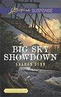 Big Sky Showdown (Love Inspired Suspense, No 579) (Larger Print)