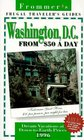 Frommer's 96 Frugal Traveler's Guides Washington DC from 50 a Day