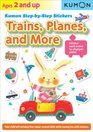 Kumon Step-by-Step Stickers  Trains Planes and More