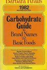 Barbara Kraus' Carbohydrate Guide 1982