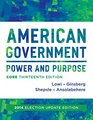American Government Power and Purpose  2014 Election Update