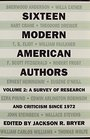 Sixteen Modern American Authors Vol 2