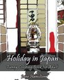 Holiday in Japan Funny Coloring Book for Adult Adult Activity Book