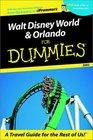 Walt Disney World  Orlando for Dummies 2002