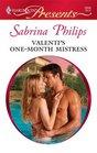 Valenti's One-Month Mistress (Harlequin Presents, No 2808)
