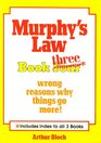 Murphy's Law Book Three Wrong Reasons Why Things Go More