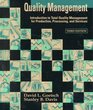 Quality Management Introduction to Total Quality Management for Production Processing and Services