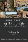 Dictionary of Daily Life in Biblical and Post-biblical Antiquity O-z