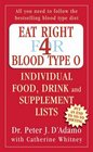 Eat Right for Blood Type O Individual Food Drink and Supplement Lists Individual Food Drink and Supplement Lists