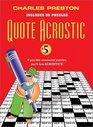 Quote Acrostic #5 (Quote Acrostic)
