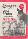 Donkey Ponies and Mules Their Care and Training