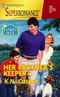 Her Brother's Keeper (Family Man) (Harlequin Superromance, No 839)